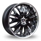 Lenso Grande 9 Black Polished Alloy Wheels