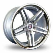 Image for Axe Ex_Stainless_5x120_Wider_Rear Silver_Polished Alloy Wheels