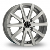 Image for Wolfrace Baretta Silver Alloy Wheels
