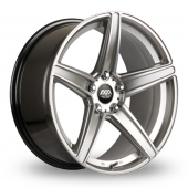 AVA Vegas Hyper Silver Alloy Wheels