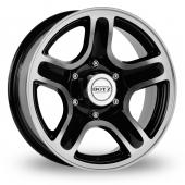 Dotz Hammada Black Polished Alloy Wheels