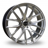 Image for Dare River_NK_1_5x120_Low_Wider_Rear Hyper_Silver Alloy Wheels