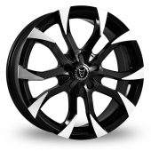 Wolfrace Assassin Black Polished Alloy Wheels