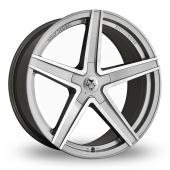 Wolf Design Wolf Design Entourage Anthracite Polished Alloy Wheels