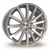 "20"" Zito 183 Silver Alloy Wheels"