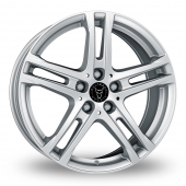 Image for Wolfrace Bavaro Silver Alloy Wheels