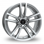 Image for Wolfrace X10 Silver Alloy Wheels