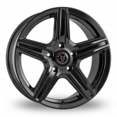 Image for Wolfrace Scorpio Black Alloy Wheels