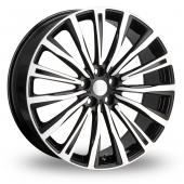 Hawke Chayton Black Polished Alloy Wheels