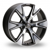 Kosei Defender V6 Gun Metal Alloy Wheels