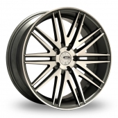 Image for ZCW V10 Gun_Metal_Polished Alloy Wheels