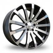 Zito 183 Black Polished Alloy Wheels
