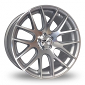 Zito ZL935 5x100 Wider Rear Silver Polished Alloy Wheels