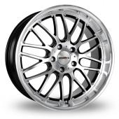 Image for Calibre Spur_5x120_Wider_Rear Black_Polished Alloy Wheels