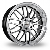 "19"" Calibre Spur Black/Polished Wider Rear Alloy Wheels"