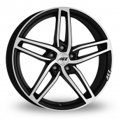 AEZ Genua Black Polished Alloy Wheels