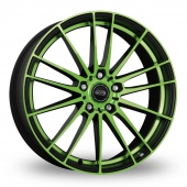 Image for Dotz Fast_Fifteen Black_Green Alloy Wheels