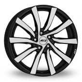 AEZ Reef SUV Black Polished Alloy Wheels