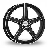 Dezent RN Black Polished Alloy Wheels