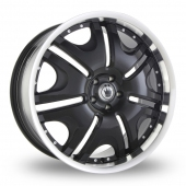 Konig Blix 1 Black Alloy Wheels