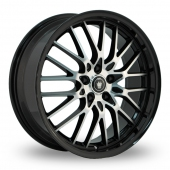 Konig Lace Wider Rear Black Polished Alloy Wheels