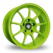 Image for OZ_Racing Alleggerita_HLT Green Alloy Wheels