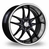 Judd T404 Matt Black Chrome Lip Alloy Wheels
