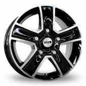 Tekno KV5 Black Polished Alloy Wheels