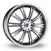 Wolf Design Wolf Design Vermont Black Polished Alloy Wheels