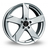 Wolfrace Kodiak Polar Silver Alloy Wheels